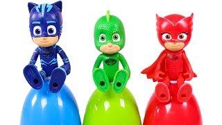 PJ MASKS ⚡🌈 Aprendemos los colores con los Héroes en Pijama y huevos sorpresa