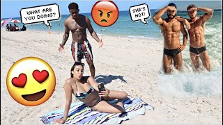 Making My Boyfriend JEALOUS At The Beach! *HE SNAPPED*