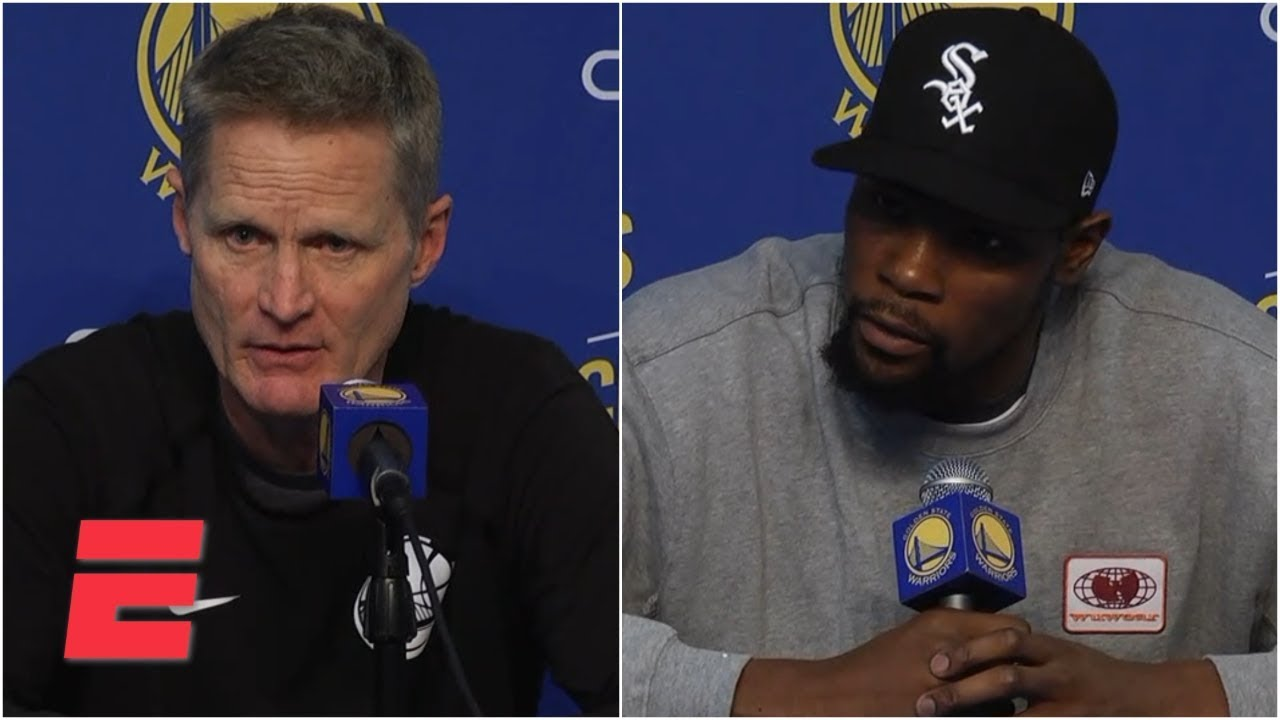 Download Kevin Durant disagrees with Steve Kerr's comments on playing with anger | NBA Sound