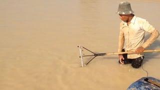 về miền tây xem cào cá chạch trên sông__bắt cá chạch theo kiểu ngày xưa