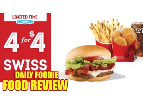 Wendy's Swiss JBC 4 for $4 Deal Review - Oct 19, 2016 - New Value Meal