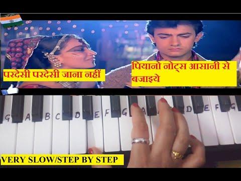 Pardesi Pardesi Jana Nahi Keyboard Tutorial  Piano Tutorial  Harmonium  Slow And Easy