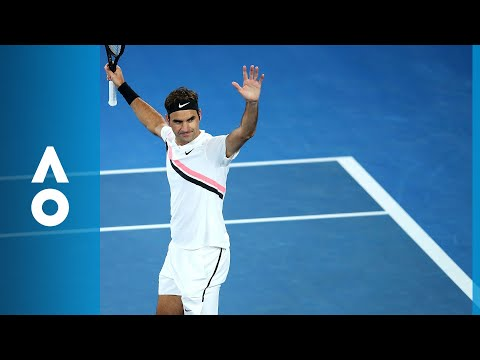 Tomas Berdych v Roger Federer match highlights QF  Australian Open 2018