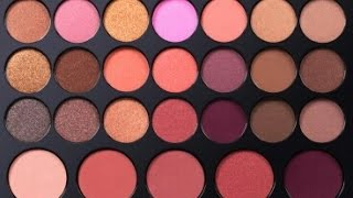 bh cosmetics blush neutrals 26 color eyeshadow and blush palette swatches