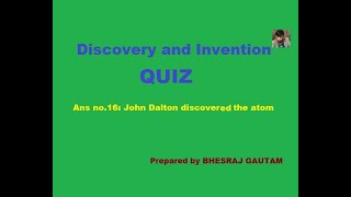 Discovery and Invention Quiz (SCIENCE QUIZ)