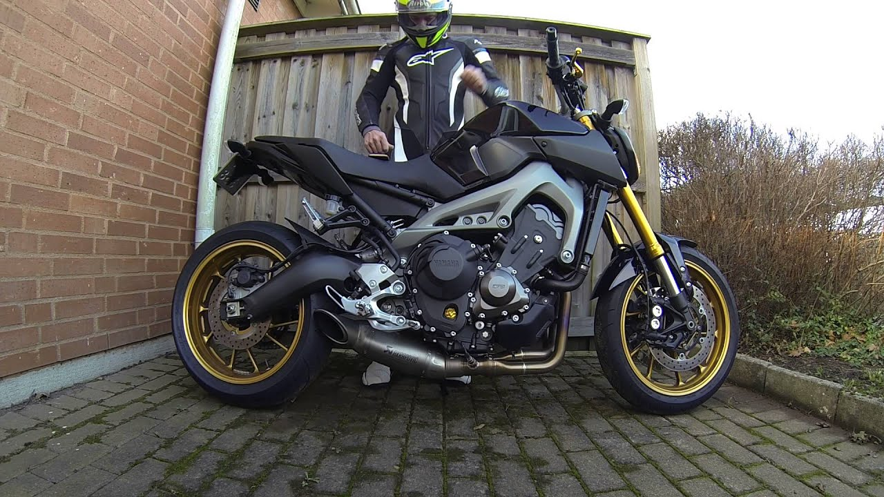 fz09 mt09 first start up 2016 mostly idle youtube