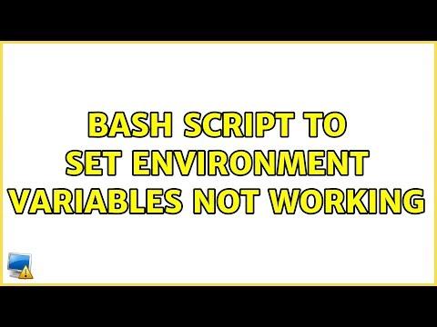Ubuntu: BASH Script To Set Environment Variables Not Working