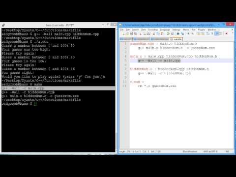 Makefile define c++ compiler