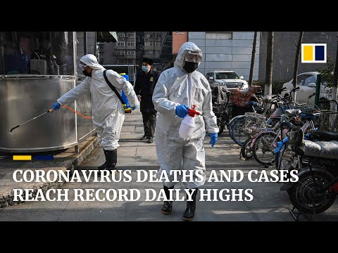 New coronavirus deaths and cases in China reach record daily highs