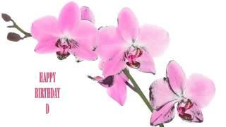 D   Flowers & Flores - Happy Birthday