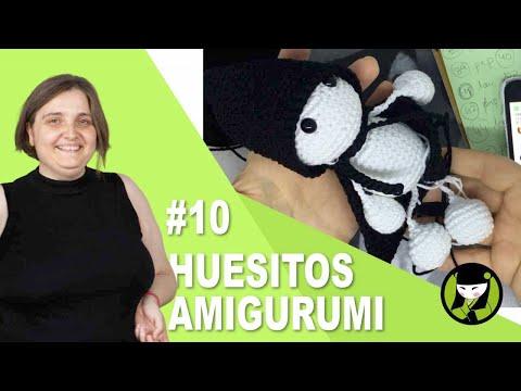 Amigurumi para HALLOWEEN 10 esqueleto tejido a crochet