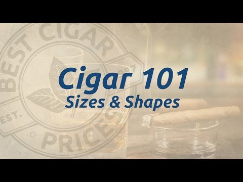 Cigar 101, Shapes and Sizes