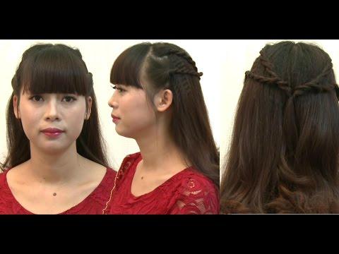 Hướng dẫn tết tóc: Kiểu 3, tết lọn nhỏ 2 bên nữ tính