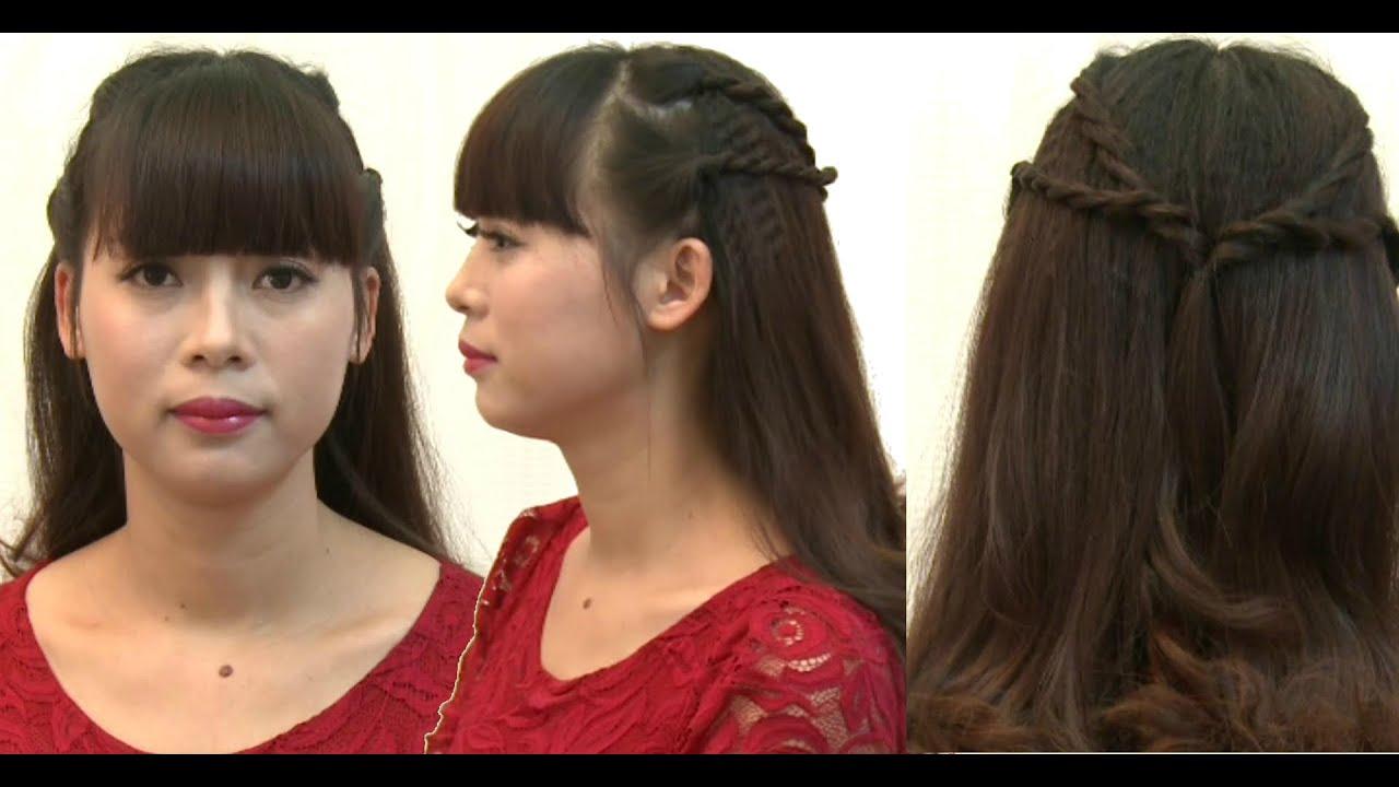 Hướng dẫn tết tóc: Kiểu 3, tết lọn nhỏ 2 bên nữ tính   Tổng hợp những kiểu tóc nữ đẹp mới nhất