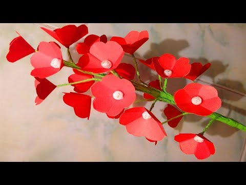 How To Make Paper Flowers Easy Flower Craft Paper Flowers Making