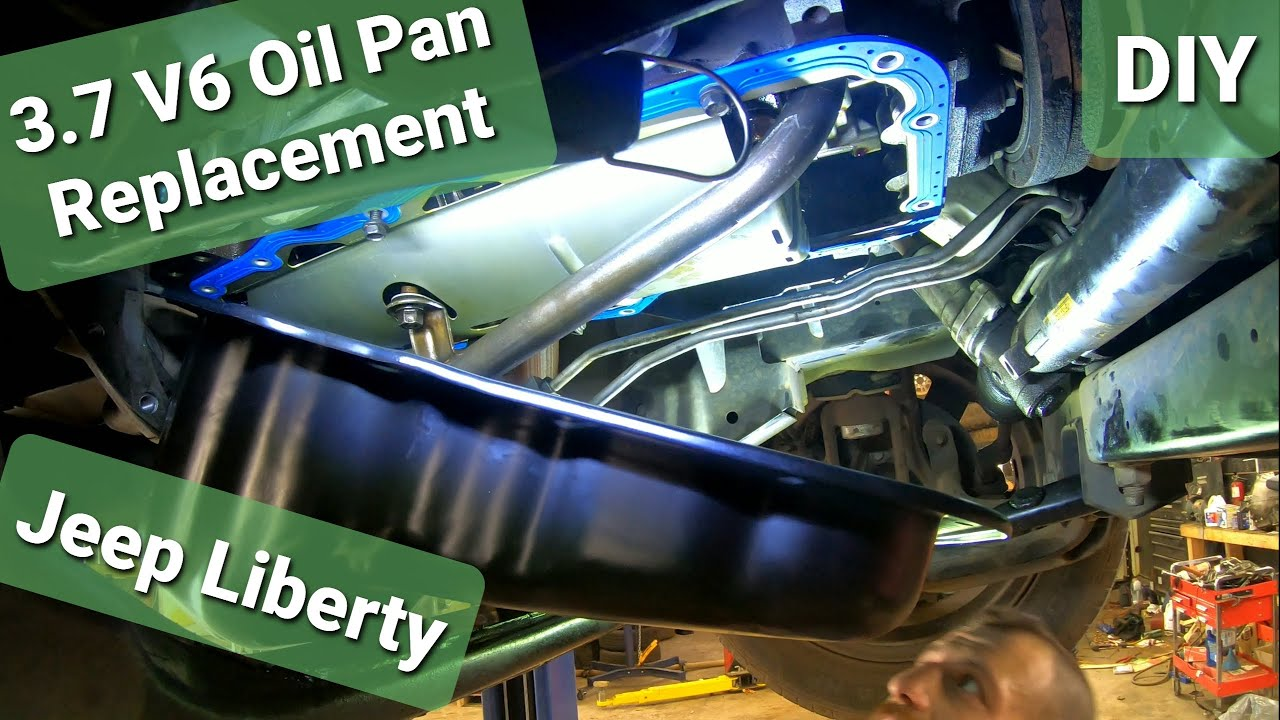 Oil Pan Gasket >> Jeep Liberty Oil Pan & Gasket Replacement 3.7 V6 - YouTube