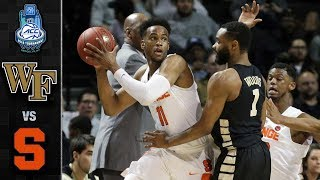 Wake Forest vs. Syracuse ACC Basketball Tournament Highlights (2018)