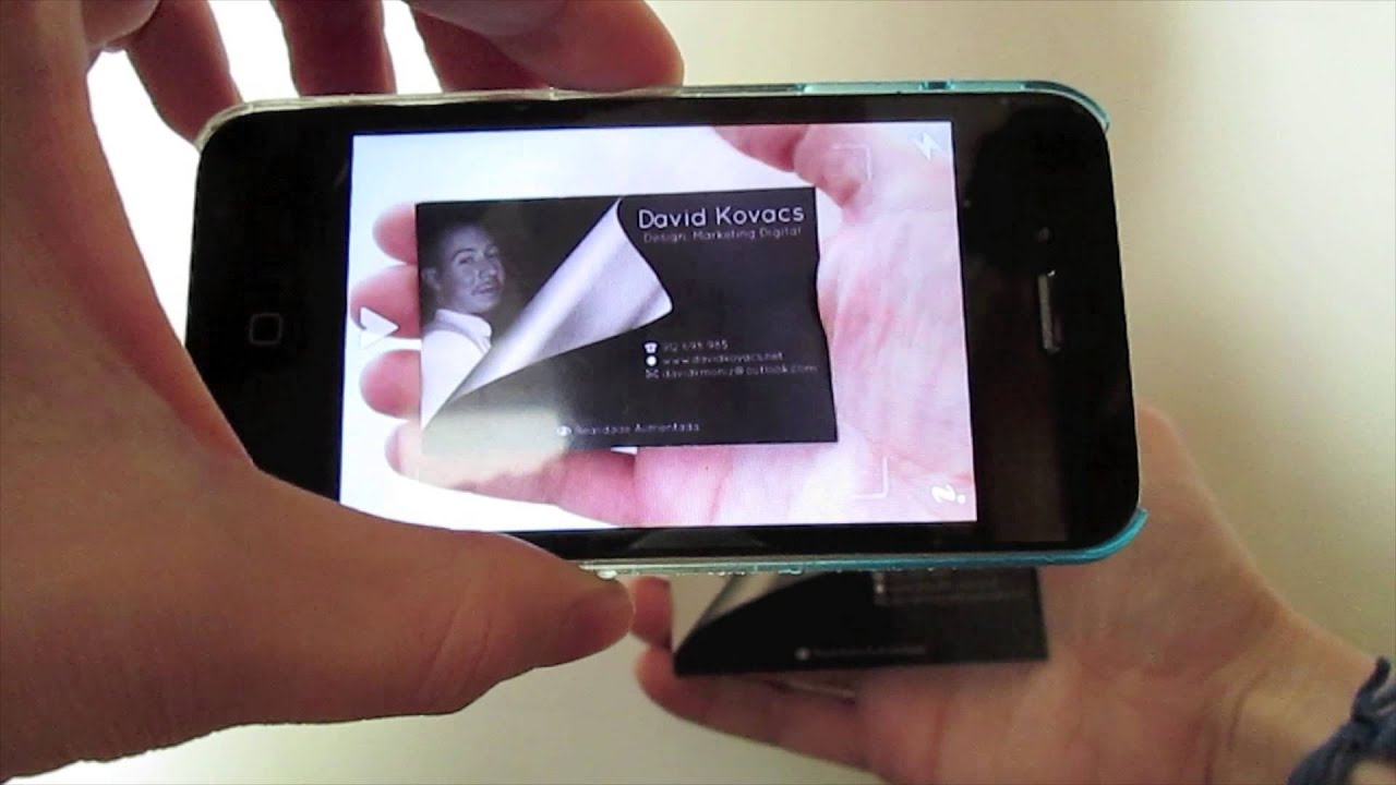 business card with augmented reality aurasma app youtube
