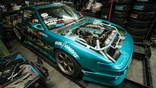 1JZ Swapped S13 Gets Custom Intercooler Piping!