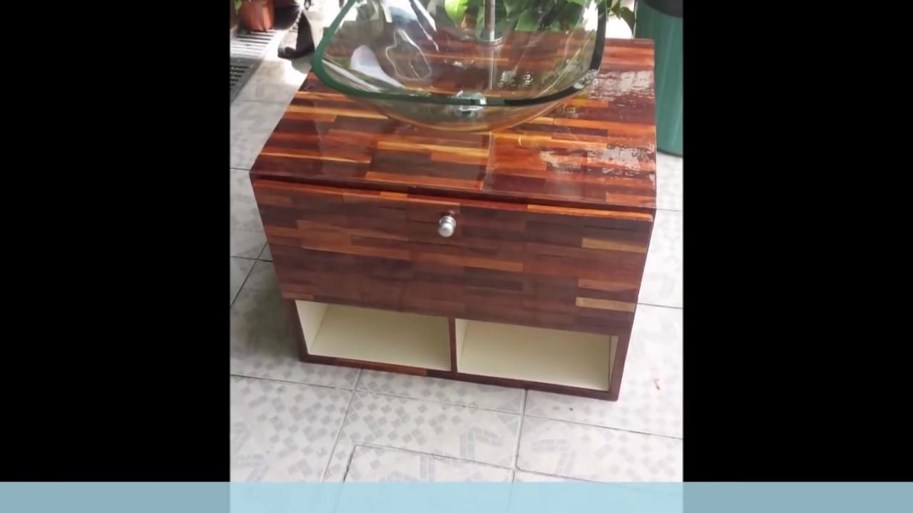 Gabinete Para Banheiro Reciclagem De Madeira Diy Fa A