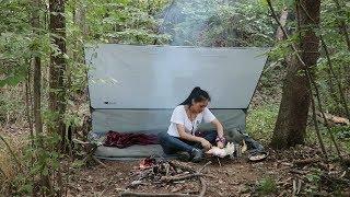 小姐姐丛林独自野营, 黑暗料理烤香蕉是啥味道?