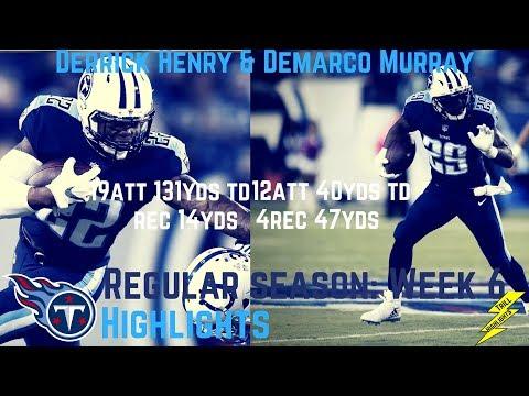 Derrick Henry & Demarco Murray Week 6 Regular Season Highlights Horses! | 10/16/2017