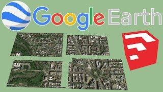 Import and Merge multiples Google Earth Aerial images in SketchUp
