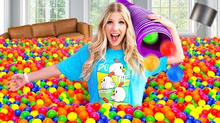 I Filled My ENTIRE House with Ball Pit Balls! *regret*