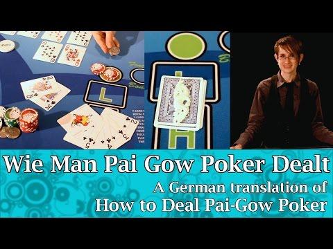 Wie Man Pai Gow Poker Dealt - German translation of How to Deal Pai Gow Poker