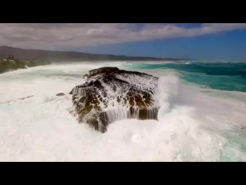 Monster Waves at Laie Point Oahu 2/22/16