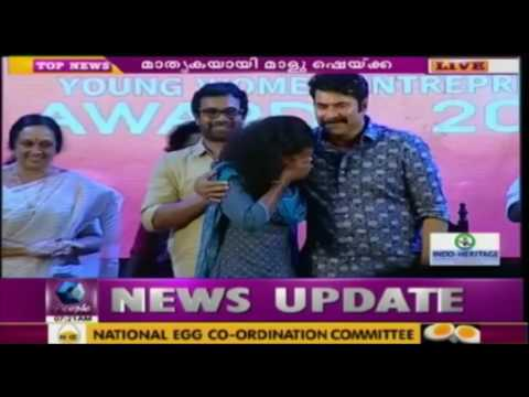 Mammootty Offers Education Fund For Malu Sheikha At Jwala Awards