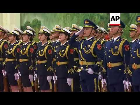 Welcoming ceremony for UK Prime Minister May in Beijing