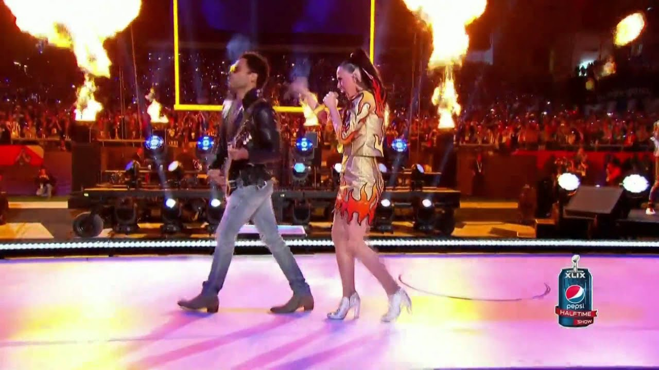 Katy Perry ft. Lenny Kravitz  I Kissed a Girl Super Bowl 2015 HD