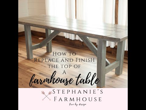 How to get a #DIY #Farmhouse Style Table #Distressed Finish