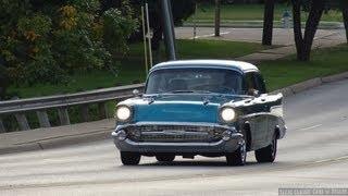 1957 Chevy 210 Street Rod Custom in action