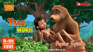 jungle book hindi Cartoon for kids 77 Team Work
