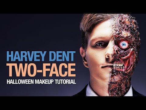 Harvey Dent - Two-Face Halloween makeup tutorial