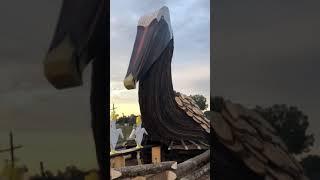 Christmas Eve pelican bonfire in RIver Parishes, Louisiana