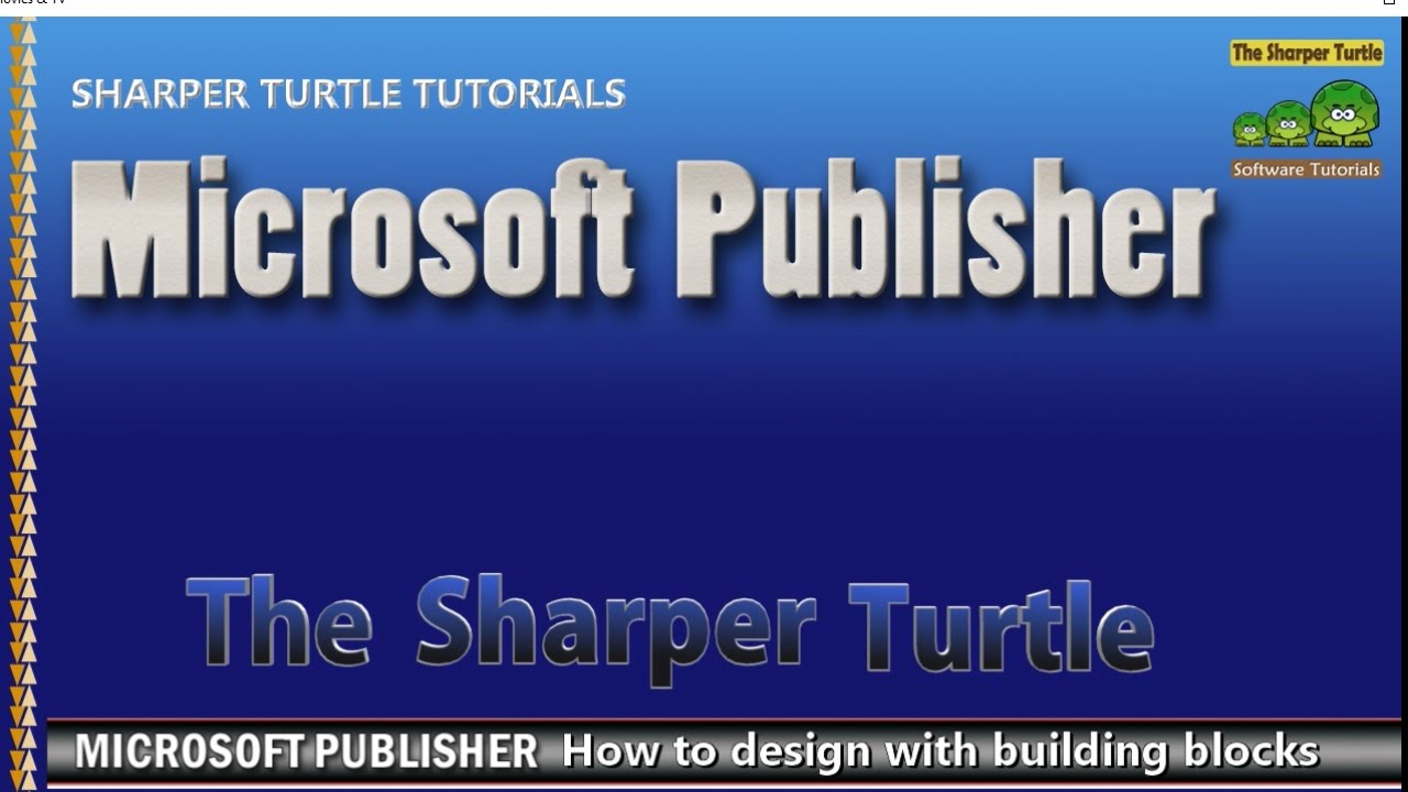 Design banner in publisher - Microsoft Publisher How To Speed Page Design Using Building Blocks