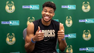 """""""It's Going To Be The Toughest Championship To Win"""" Giannis Antetokounmpo Press Conference 