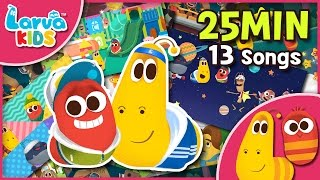 [Nursery Rhyme Compilation] 25min Larva Song for Children - Larva kids 13 songs - English