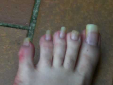 Long toenails and claws crush tease 5
