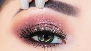 The EASIEST Glitter Eyeshadow Makeup Tutorial for Beginners | What to use to apply glitter?
