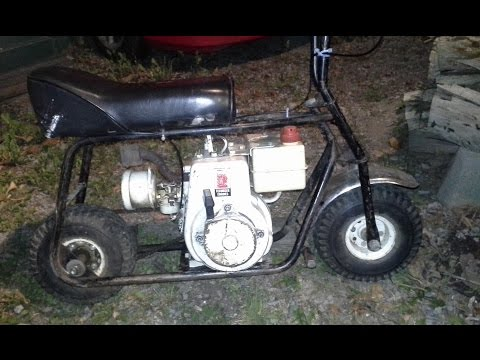 Yet another great Craigslist find: A vintage 5hp Tecumseh mini bike.