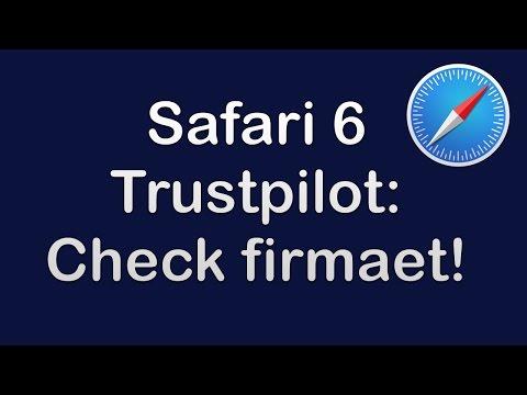 Safari 6 - Trustpilot - Check firmaet