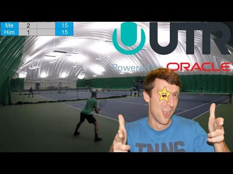 UTR 8+ Minimum Tournament - Indoor Tennis Highlights Part 2: UTR 10 V.S. UTR 11(w/ COMMENTARY)