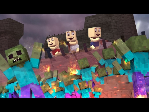 Minecraft | Who's Your Daddy Family? Horde of Zombies Kill Baby!? (Zombie Apocalypse)