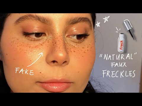 how to ~natural~ faux freckles *i'm a fraud * (o_-) (freck cosmetics review)