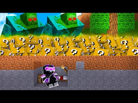 ¿¡BASE 100% SEGURA VS TSUNAMI TÓXICO DE LUCKY BLOCKS!? | MINECRAFT TROLL