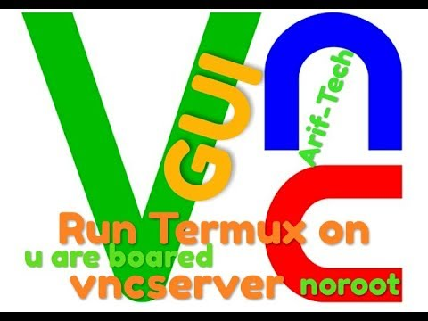 #termux_gui #Termux_vnc Termux on VNC SERVER run GUI